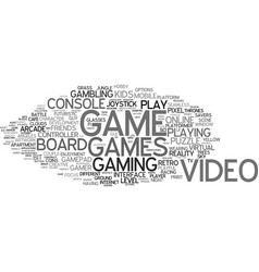 Game word cloud concept vector