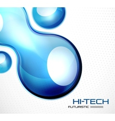 Glossy bubble abstract background vector image