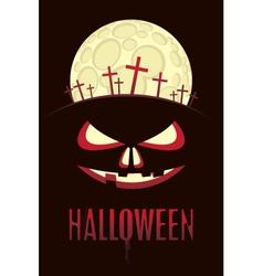 halloween moon vector image