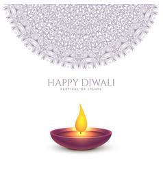 Happy diwali beautiful background design vector
