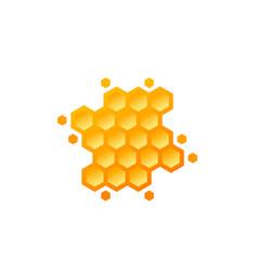 Honeycomb on white design vector