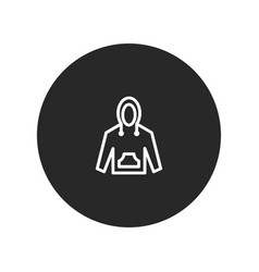 hoodie icon vector image