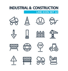 industrial and construction tools collection icons vector image