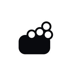 Isolated foam icon sponge element can be vector
