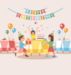 Kids catering concept flat vector
