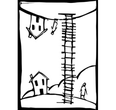 Ladder Up vector image