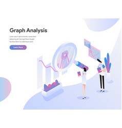landing page template graph analysis isometric vector image