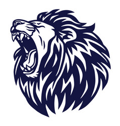 lion roar logo icon sports mascot template vector image