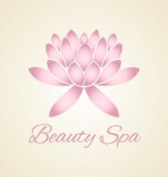 Lotus flower abstract logo design vector