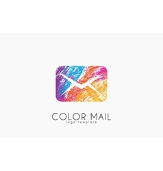 Mail logo Color mail logo design Creative logo vector