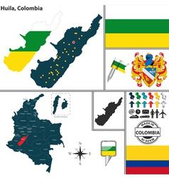 Map of Huila vector