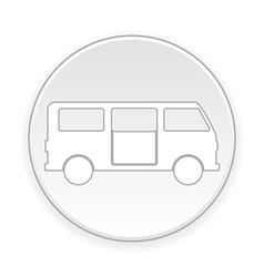 Minibus button vector image