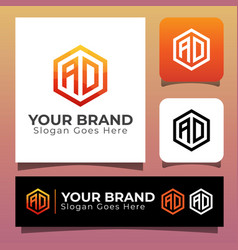 Monogram initial letter ad for your brand vector