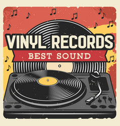 music player and vinyl records disco dance party vector image