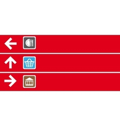 Navigation pointer vector image