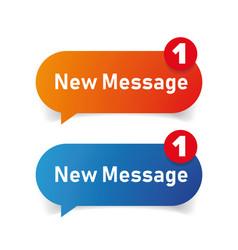 New message icon speech bubble vector