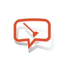 Plunger message sticker orange vector