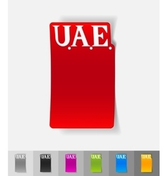 Realistic design element United Arab Emirates vector