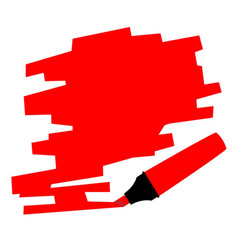 red marker copy space vector image