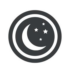 Round black night sign vector image