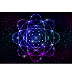 Sacred geometry symbol Mandala mystery element vector image