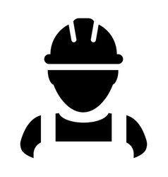 Safety worker icon male construction service vector