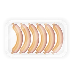 sausages in packaging 01 vector image