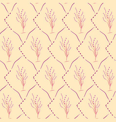 seamless cherry blossom pattern vector image