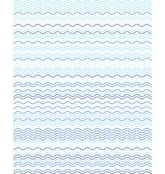 seamless wavy lines vector image