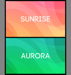 set horizontal abstract backgrounds with vector image