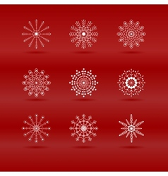 Set of snowflakes in vector image