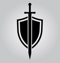 shield and sword icon vector image