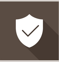 shield protect with tick mark approved icon vector image
