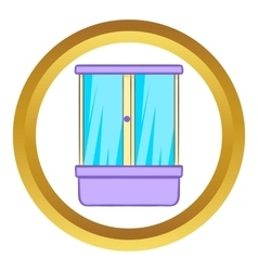 Shower cubicle icon vector image