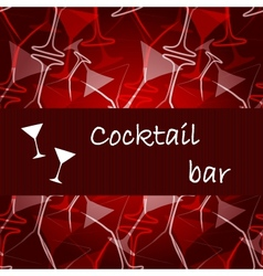 Template of alcohol card vector image