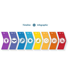 Template timeline infographic from colour arrows vector