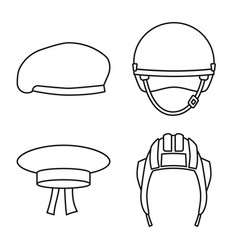 Uniform and soldier logo vector