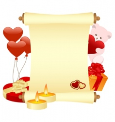 valentines scroll vector image