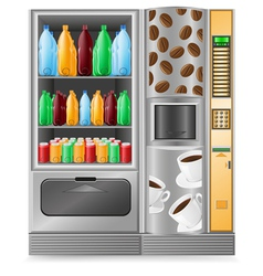 vending coffee and water is a machine vector image