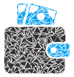 Wallet collage of triangles vector
