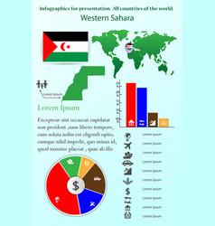 western sahara infographics for presentation all vector image