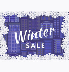 winter urban cityscape background design vector image