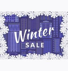 winter urban cityscape background design vector image