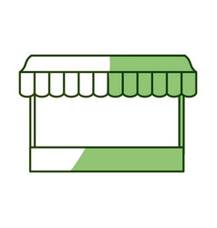 Wooden mini market vector