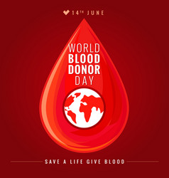 World blood donor day banner vector