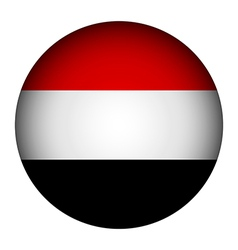 Yemen flag button vector image