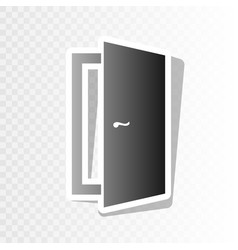 door sign new year blackish vector image