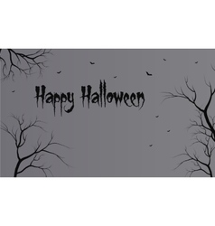 Flat backgrounds halloween dry tree vector image
