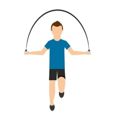 man jump rope isolated icon design vector image