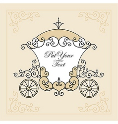 wedding carriage vector image
